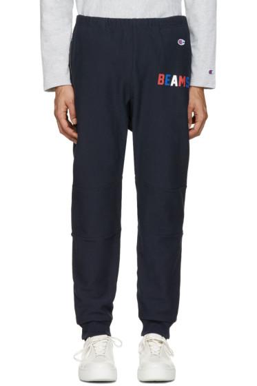 Champion x Beams - Navy Logo Lounge Pants
