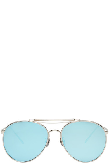 Gentle Monster - Silver Big Bully Sunglasses