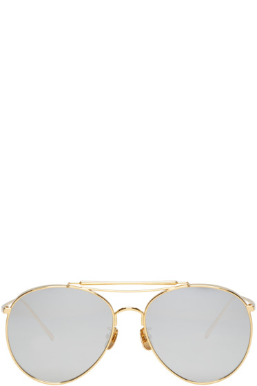 Gentle Monster - Gold Big Bully Sunglasses