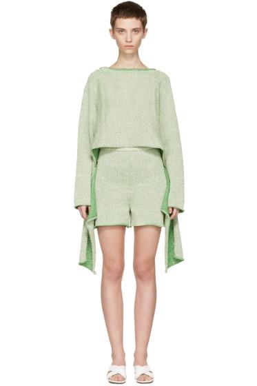 Eckhaus Latta - Green Tie Back Sweater