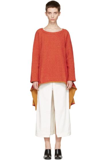 Eckhaus Latta - Red Tie Back Sweater