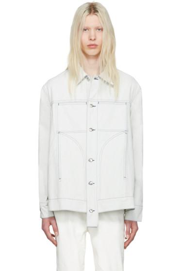 Eckhaus Latta - オフホワイト デニム ジャケット
