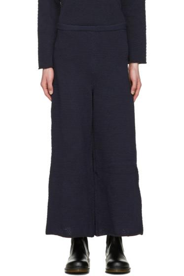 Eckhaus Latta - Navy Knit Lounge Pants