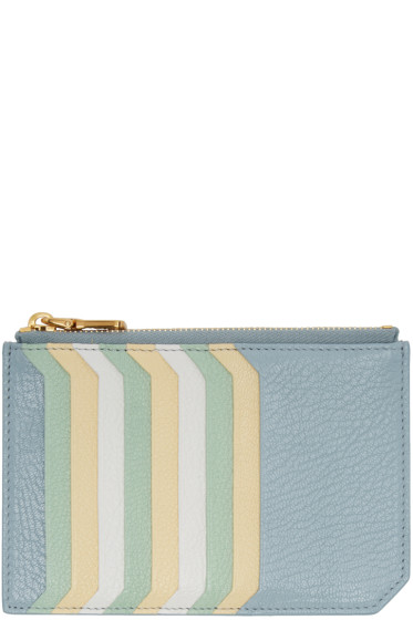 Miu Miu - Blue Multi Card Zip Pouch