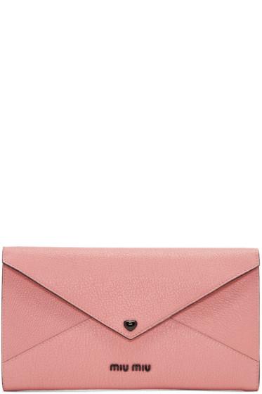 Miu Miu - Pink Heart Envelope Pouch