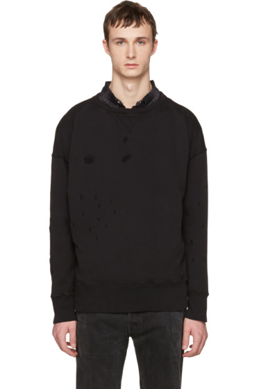 Faith Connexion - Black Distressed Pullover