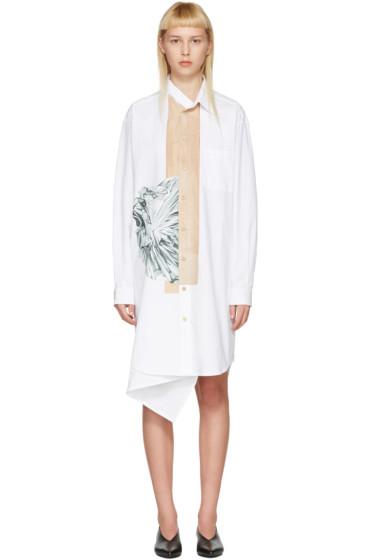 Bless - ホワイト ネッカチーフ ドレス