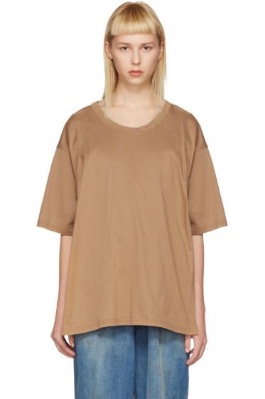 Bless - ブラウン マルチウェア T シャツ