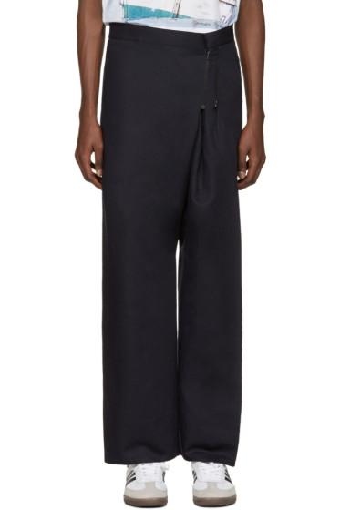 Bless - Navy Zipper Trousers