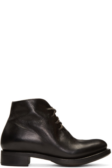 Cherevichkiotvichki - Black One-Piece Goodyear Boots