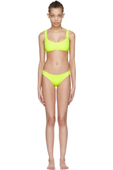 Solid & Striped - Yellow 'The Elle' Bikini