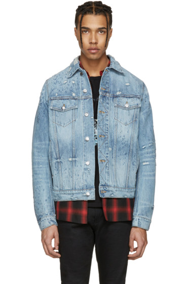 Amiri - Blue Shotgun Denim Trucker Jacket
