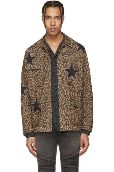 Amiri - Brown Leopard Field Jacket