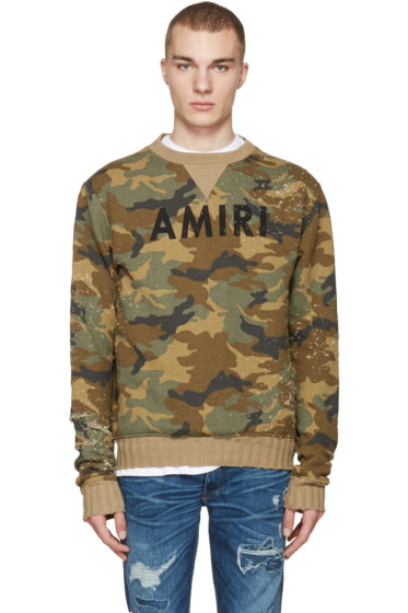 Amiri - Brown Camo Logo Pullover