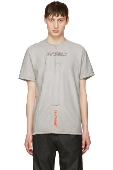 A-Cold-Wall* - Grey Reconstructed Invisible Polythene T-Shirt