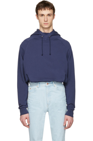 Martine Rose - Navy Embroidered Hoodie