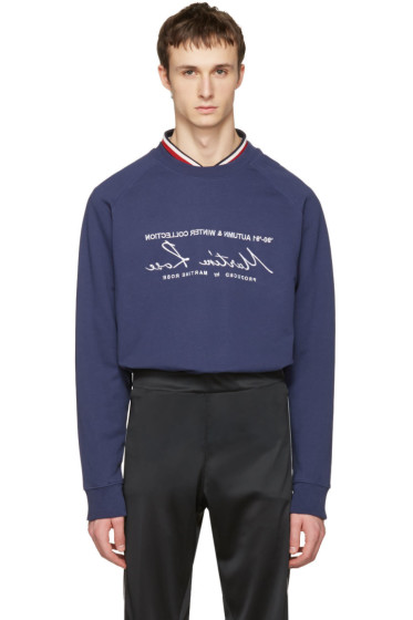 Martine Rose - Navy Embroidered Pullover
