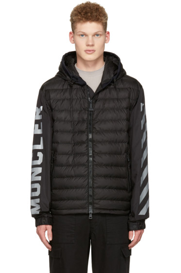 Moncler O - ブラック ダウン ロゴ ジャケット