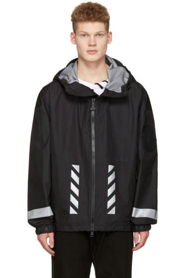 Moncler O - ブラック ロゴ ウインドブレーカー ジャケット
