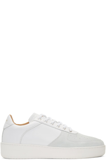 Aime Leon Dore - SSENSE Exclusive White Leather Sneakers