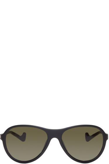 District Vision - SSENSE Exlusive Black Kaishiro Sunglasses