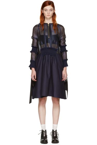 Ovelia Transtoto - Navy Zip Front Dress