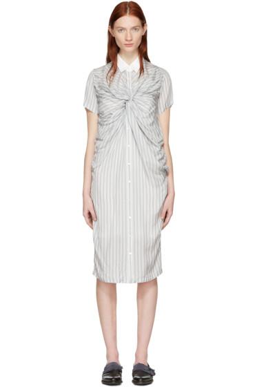 Chika Kisada - Off-White Striped Twist Dress