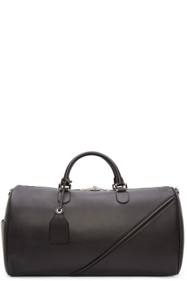 Loewe - Black Leather Duffle 51 Bag