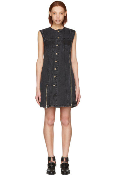 3.1 Phillip Lim - Black Asymmetric Denim Dress