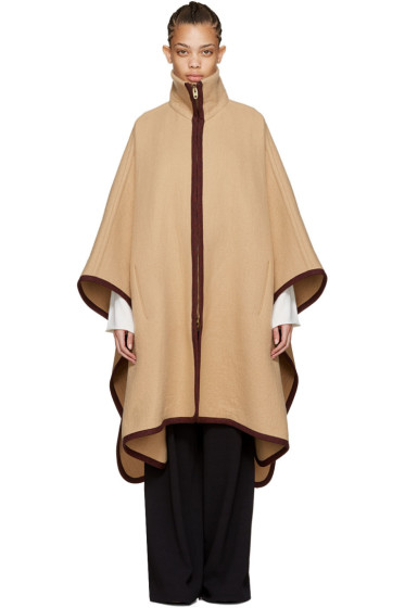 Chloé - Tan Long Cape Coat