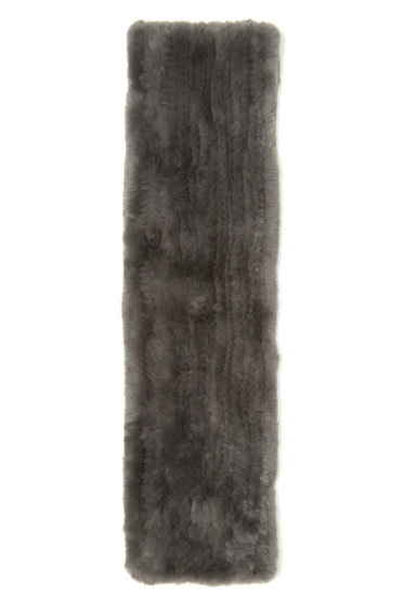 Yves Salomon - Grey Knit Fur Scarf