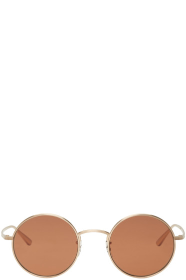 Oliver Peoples The Row - Gold After Midnight Sunglasses