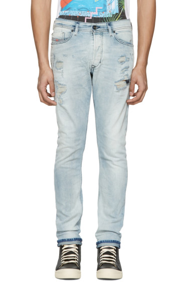 Diesel - Blue Destroyed Tepphar Jeans