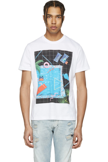 Diesel - White T-Joe-NM Pool T-Shirt