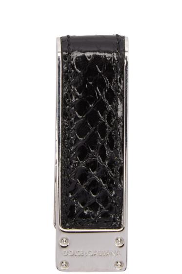 Dolce & Gabbana - ブラック スネーク マネー クリップ