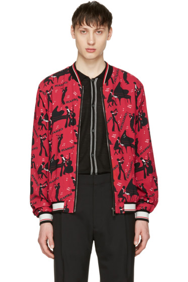 Dolce & Gabbana - Red Mambo Bomber Jacket