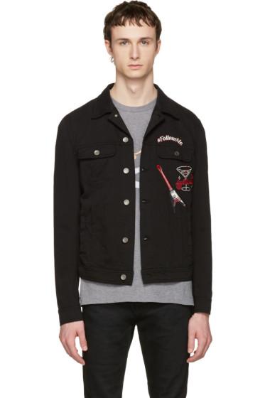 Dolce & Gabbana - Black 'Follow Me' Denim Jacket