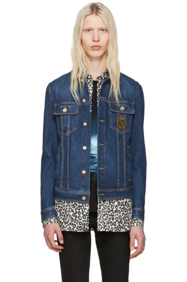 Dolce & Gabbana - Blue Denim Crown Jacket