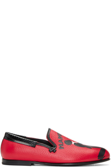 Dolce & Gabbana - Red Mambo Loafers