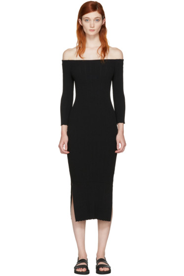 Rag & Bone - Black Kari Off-the-Shoulder Dress