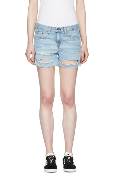Rag & Bone - Blue Denim Boyfriend Shorts