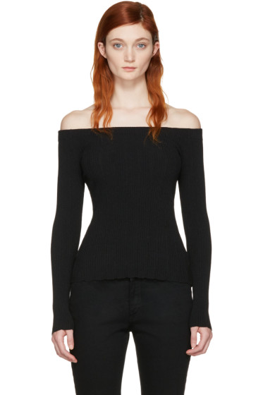 Rag & Bone - Black Karl Off-the-Shoulder Pullover