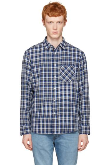 Rag & Bone - Blue Check Beach Shirt
