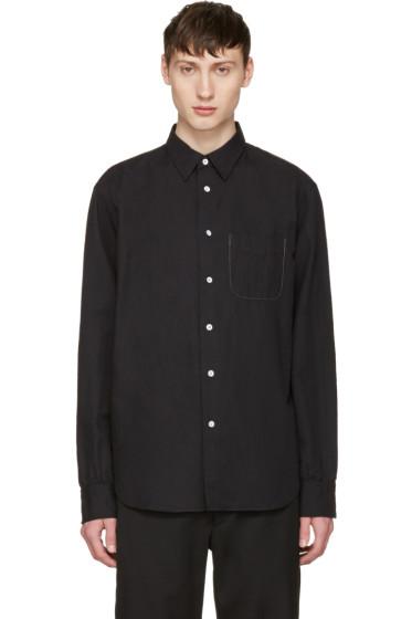 Rag & Bone - Black Linen Beach Shirt