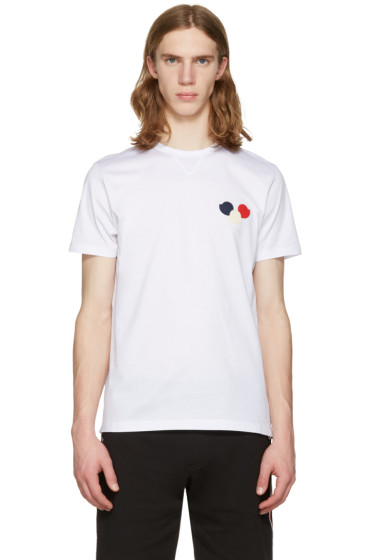 Moncler - White Embroidered T-Shirt