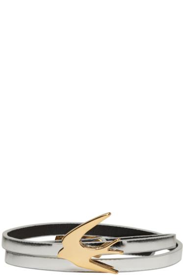 McQ Alexander McQueen - Silver Swallow Mini Wrap Bracelet