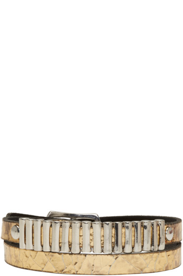 McQ Alexander McQueen - Gold Mini Bullet Wrap Bracelet