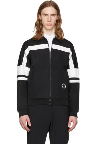 McQ Alexander McQueen - Black 70's Zip-Up Sweater