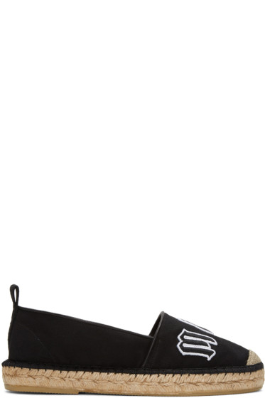 McQ Alexander McQueen - ブラック ロゴ エスパドリーユ