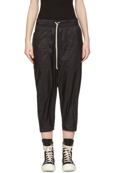 Rick Owens Drkshdw - Black Drawstring Cropped Lounge Pants